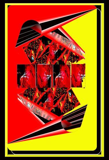 Feuer, gelb und rot