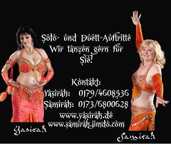 flyer rückseite 2    Yasirah und Samirah    Orientalisches Bauchtanzensemble