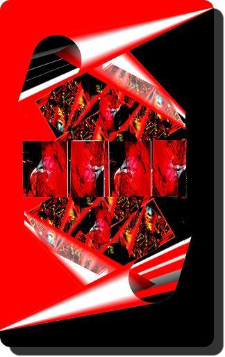 rot schwarz ohne Rahmen